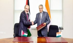 MOU signed between India and Palestine for setting up of Palestine-India Techno Park in Ramallah