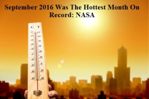 September 2016 Was The Hottest Month On Record: NASA