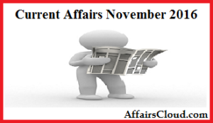 Current Affairs November