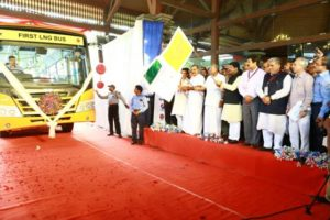 First LNG Fuelled Bus in the Country launched by Shri Dharmendra Prdhan in Kerela.