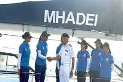 INSV MHADEI flagged Off with all-women crew