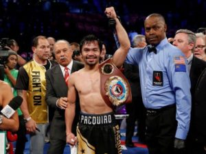 Pacquiao reclaimed WBO title for third time by beating vargas