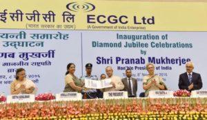 President of India Inaugrates Diamond Jubliee Celebration Of ECGC