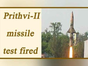 India conducted Twin Trail of Prithvi-II missile in Odisha