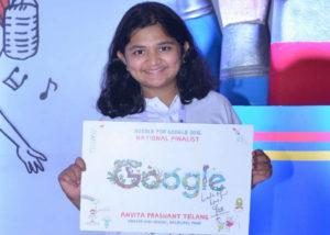 Pune girl Anvita Prashant Telang wins Google India's doodle competition