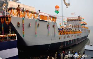 Seventh Landing Craft Utility Ship Launched at GRSE