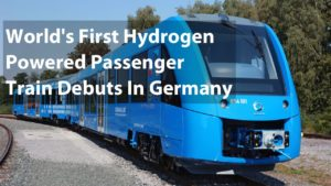World's first zero-emissions hydrogen train 'Coradia iLint' unveiled in Germany