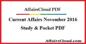 Current Affairs November