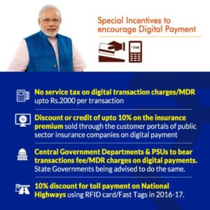 Govt announces several incentives on payments through digital modes