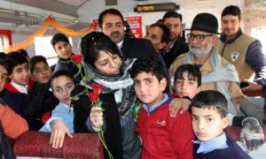 Mehbooba Mufti Flags off First Children Special Train in Kashmir