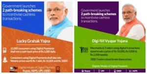 NITI Aayog launches new schemes - Lucky Grahak Yojana and Digi-Dhan Vyapar Yojana - for incentivising digital payment