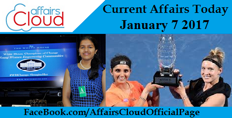 Current Affairs Today – January 7 2017