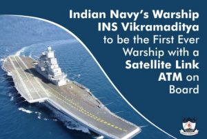 INS Vikramaditya Becomes India's First Warship to Have ATM Onboard