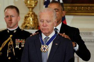President Obama awards Joe Biden with the highest US civilian honour