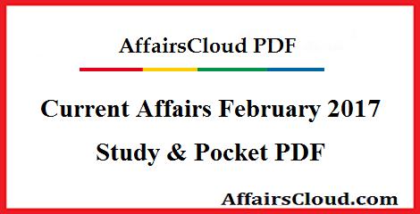 Current Affairs 2017 PDF