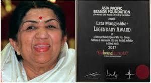 Lata Mangeshkar Honored with 2017 Legendary Award by Brand Laureate