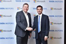 Tata Motors Signs Strategic Technological Agreement with Microsoft