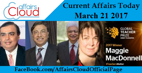 Current Affairs Today March 21 2017