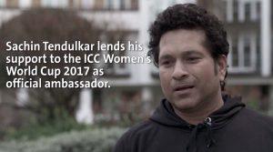 ICC appoint Sachin Tendulkar as official ambassador of women's World Cup 2017