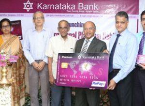 Karnataka Bank Launches Rupay International Platinum Debit Card