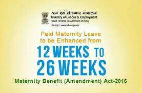 Maternity Benefit (Amendment) Bill, 2016