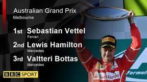 Sebastian Vettel beats Lewis Hamilton to win Australian Grand Prix