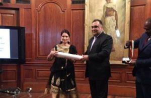 UK Minister Priti Patel receives Pravasi Bharatiya Samman