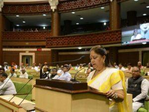Vasundhara Raje Presented Rs.1,66,000-crore Rajasthan Budget 2017-18