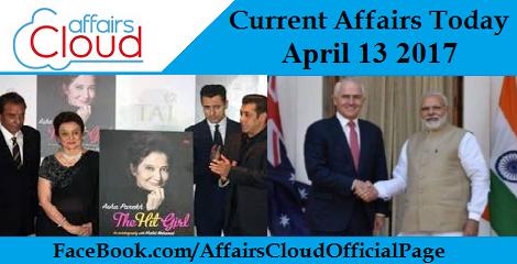 Current Affairs April 13 2017