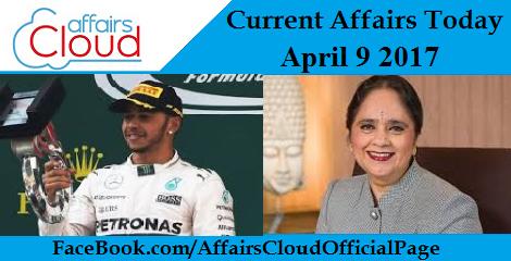 Current Affairs April 9 2017