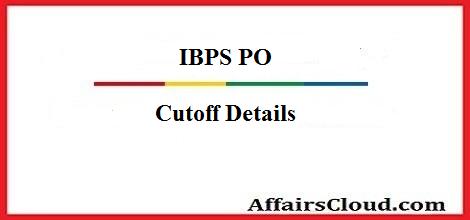 IBPS PO Cutoff