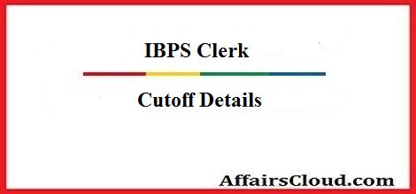 IBPS Clerk Cutoff