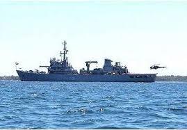 INS Darshak conducting joint survey of Sri Lankan bay