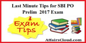 Last Minute Tips for SBI PO Prelim