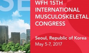 15th edition of WFH International Musculoskeletal Congress (IMC) held in Seoul