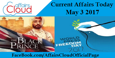 Current Affairs may 3 2017