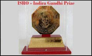 ISRO receives 2014 Indira Gandhi Peace Prize