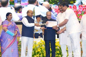 Pranab Mukharjee presented the Dr. Ambedkar National Awards