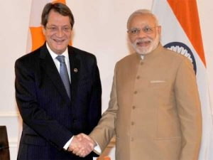 President of Cyprus Nicos Anastasiades has arrived in India on a 5-day visit