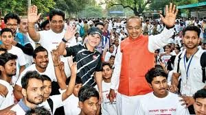 Union Minister Vijay Goel flags off Slum Yuva Daud