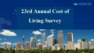 23rd Annual Cost of Living Survey