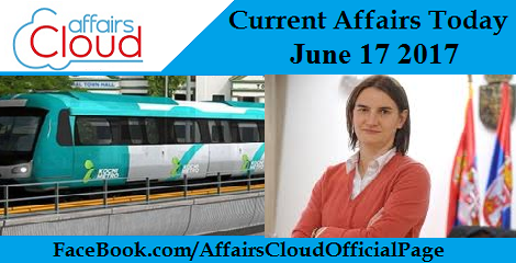 Current Affairs June 2017
