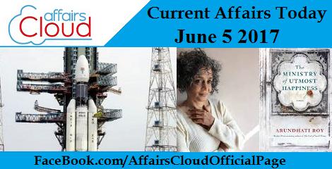 Current Affairs June 5 2017