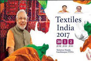PM Modi Inaugurates 'Textiles India' in Gandhinagar