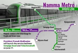President Mukherjee to inaugurate Green Line of 'Namma Metro' in Bengaluru