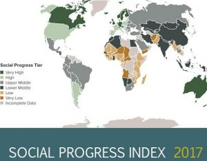 India ranks 93rd out of 128 in Social Progress Index 2017