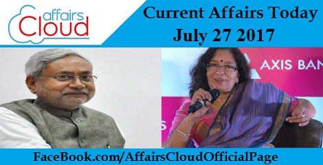 Current Affairs July 27 2017