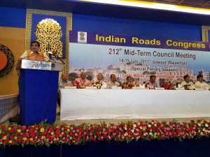 Gadkari inaugurate Road Congress Meet in Udaipur