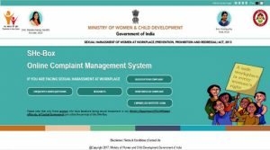 Govt launches 'SHe-Box' portal for Sexual harassment