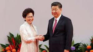 Hong Kong's first female leader Carrie Lam sworn in as country marks 20 years since British handover